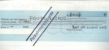 Modelo cheque