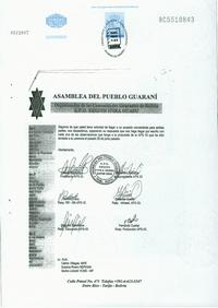 Notarized letter to Repsol YPF S.A.