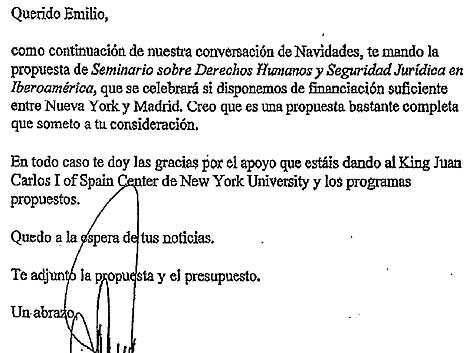 Carta del Juez Garzon a Emilio Botín