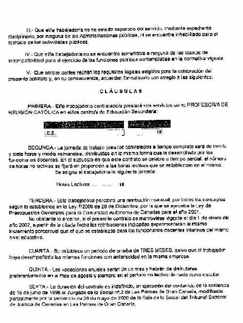 Equipo nizkor canarias modelo de contrato de trabajo de for Modelo contrato indefinido