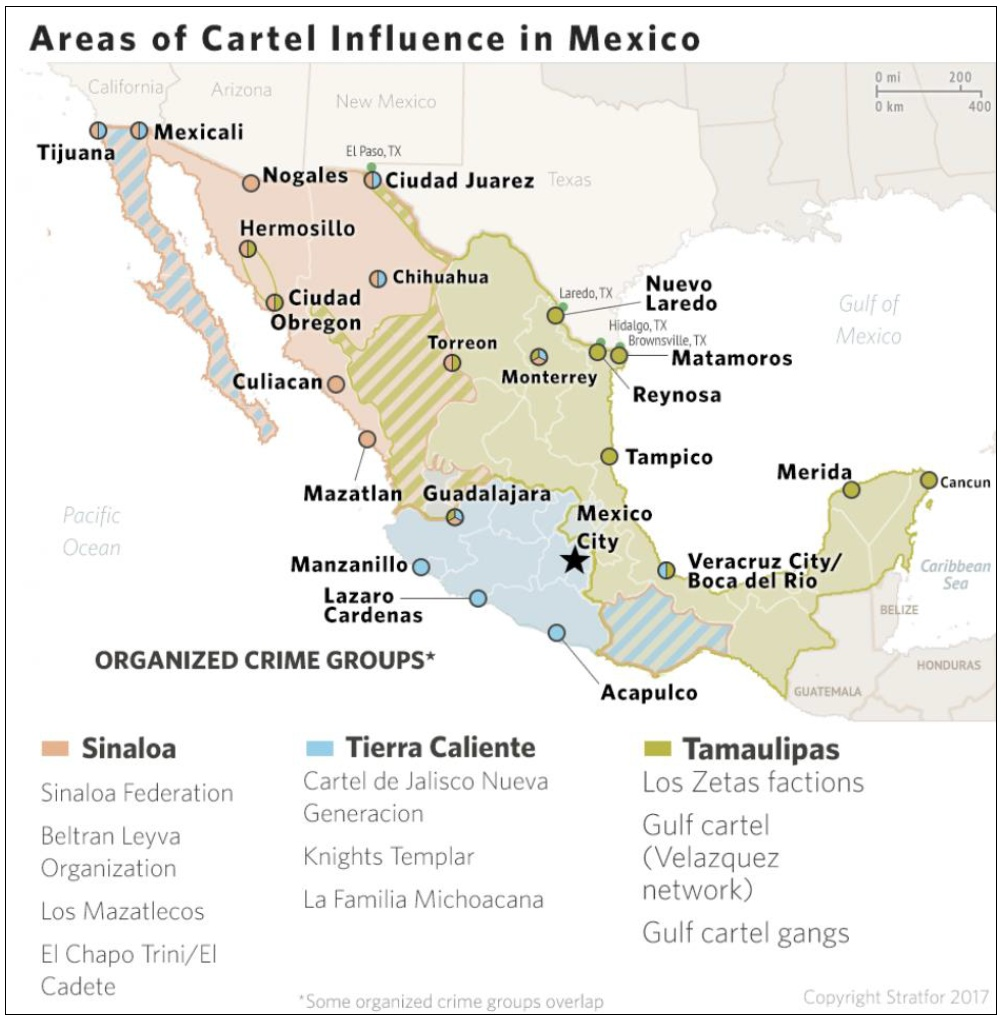 Cartels In Mexico Map.Equipo Nizkor Crs R41576 Mexico Organized Crime And Drug